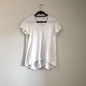 WILT White Scoop Neck Hi Low T-shirt